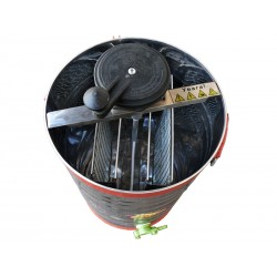 Медогонка 2-х рамкова нержавійка з неповоротними касетами (чарунка)
