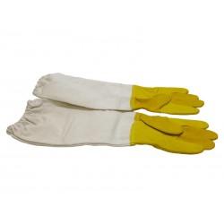 """Перчатки кожаные желтые,""""BEE Land"""" с нарукавниками (Хлопок), Германия"""