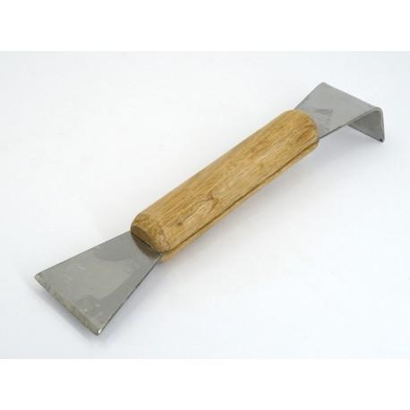 Стамеска пасечная нержавеющая с деревянной ручкой 200мм