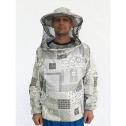Куртка з маскою на блискавки ситець