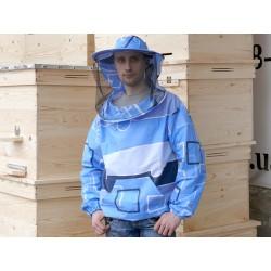 Куртка с маской на молнии сатин