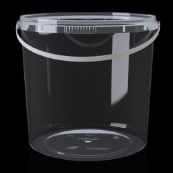 Ведро пластиковое прозрачное 2,8л