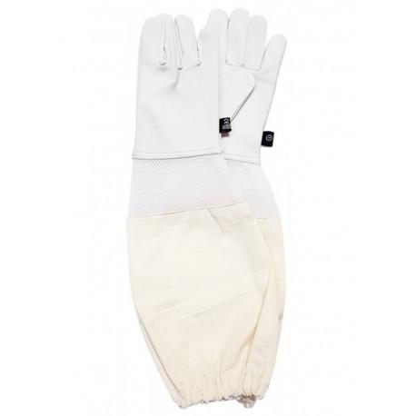 Перчатки кожаные манжет с вентиляцией, Польша