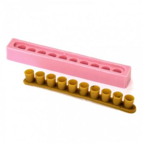 Форма для литья ленты из 10 мисочек