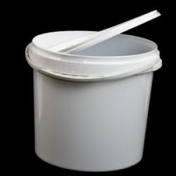 Ведро пластиковое белое 20л с пластиковой ручкой