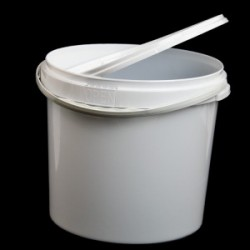 Відро пластикове біле 20л з пластиковою ручкою
