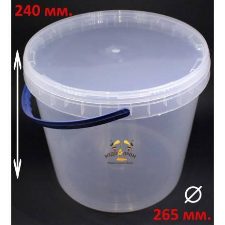 Ведро пластиковое прозрачное 10л