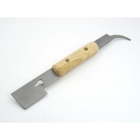 Стамеска пасечная-гвоздодер «Козья ножка» с деревянной ручкой