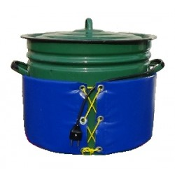 Декристаллизатор, роспуск мёда в кастрюле 40 л. Hазогрев до + 40°С