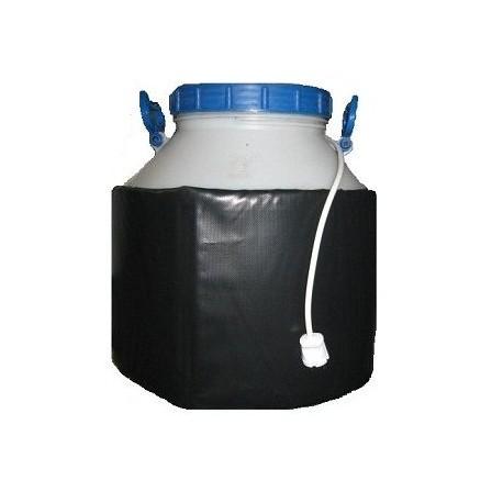 Декристаллизатор, роспуск мёда в пластиковой ёмкости 60 л. Разогрев до + 40°С